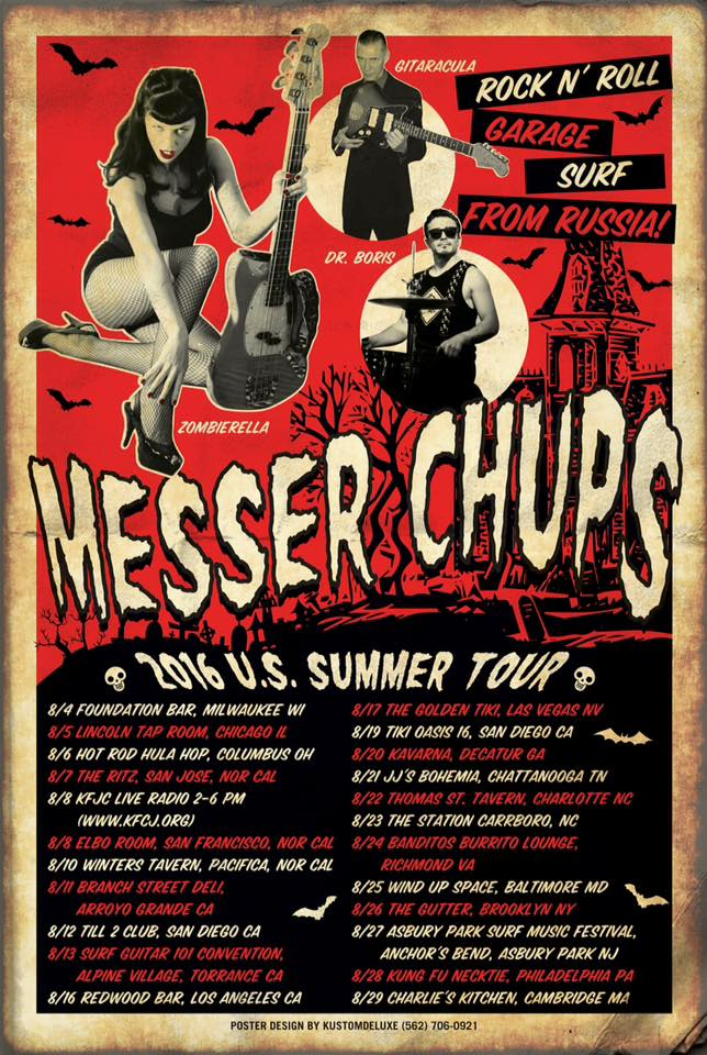 Messer Chups' 2016 US Tour Poster