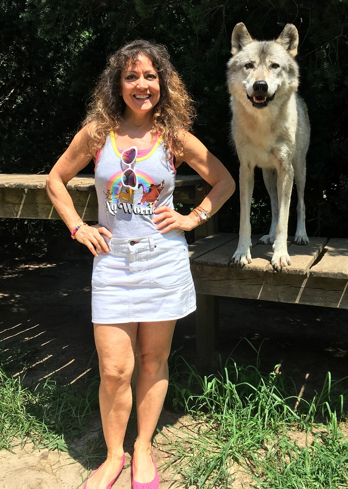 Debbie D and Wolf